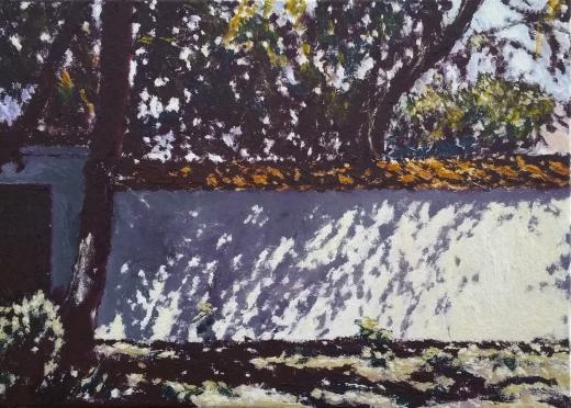 mur-eremu-pokamedulskiego-na-bielanach-2018-olej-plotno-wym-33-x-46-cm