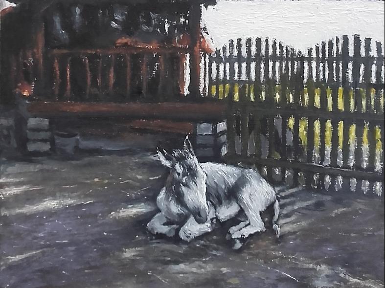 Jacek-Barszcz-osiolek-i-anioly-2018-olej-plotno-wym-46-x-33-cm-1