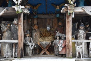 Szopka autorstwa Józefa Wilkonia, parafia bł. E. Detkensa, Las Bielański