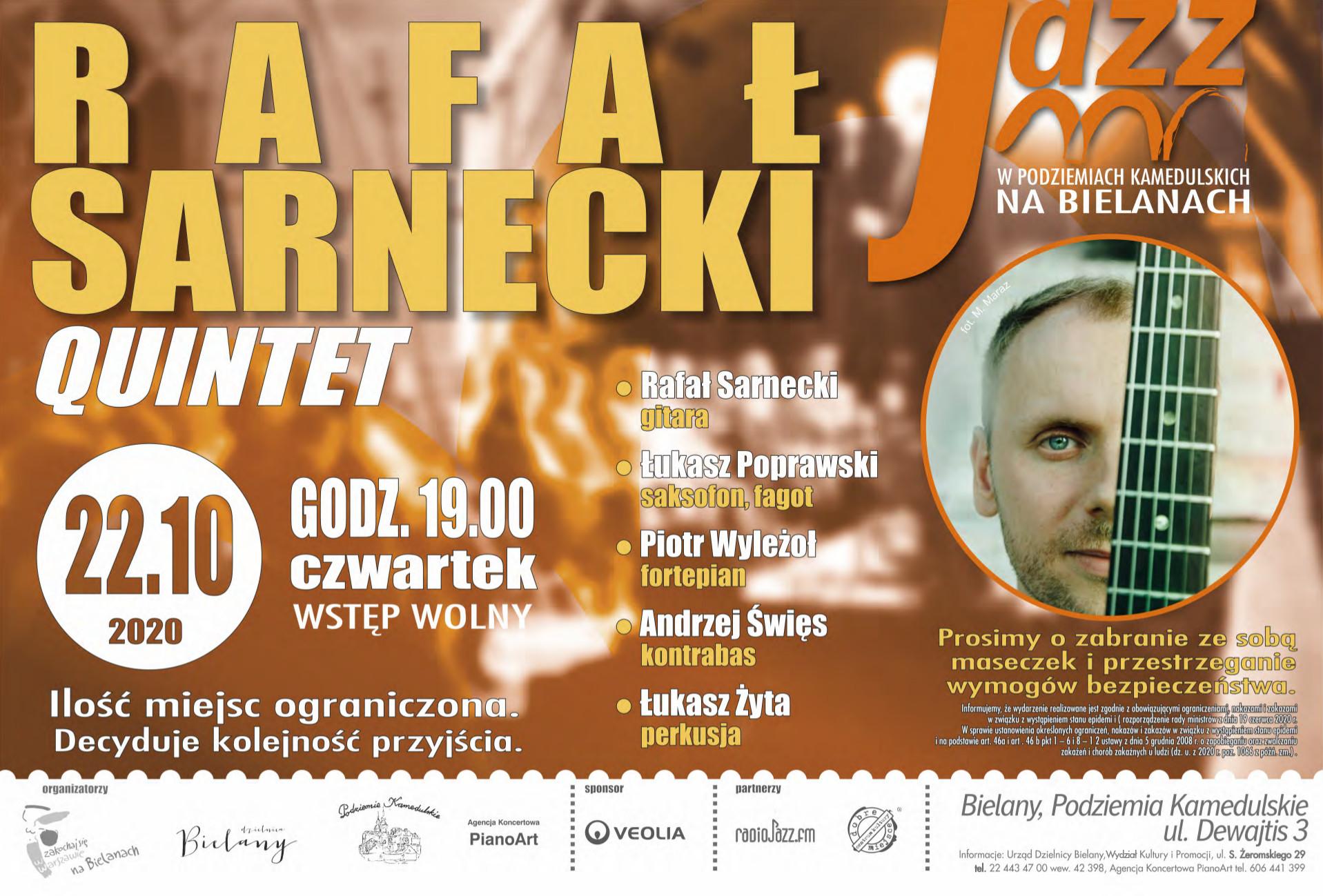 1. Rafał Sarnecki Quintet 22.10 plakat